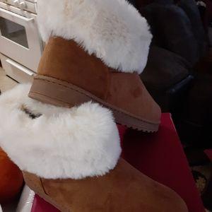 Boots faux fur cuff